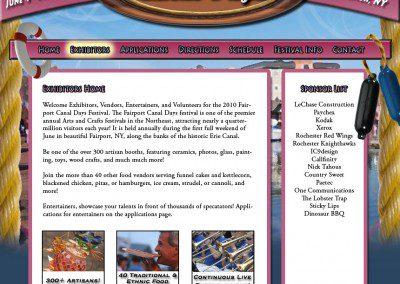 Canal Days Website